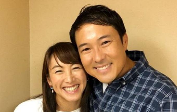 杉山愛と夫の画像